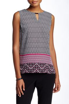 Geo Trio Border Tank by Laundry By Shelli Segal on @nordstrom_rack