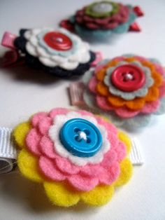 DIY hair clip kit - bright colors - do it yourself kit crafts for girls teen tween. $8.50, via Etsy.