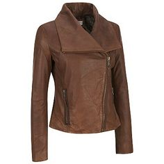 women Brown Leather Jacket women brown Leather by ukmerchant, $159.99