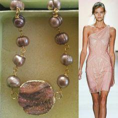 Joyeria artsanal druzzy y perla de río