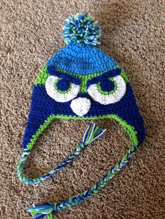 Inspired Seattle Seahawks crochet beanie by MyCrochetedCuties, $25.00