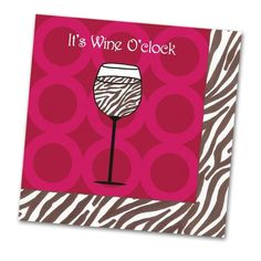 It's Wine O'clock - Funny Cocktail Napkins - Napkins2go