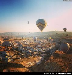 A friend of mine posted this photo on facebook. I think it's fantastic. Hot Balloons and Mountains