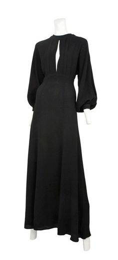 Vintage Ossie Clark dress - this silhouette manages the perfect mix of sexy and elegance <3