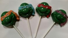Teenage Mutant Ninja Turtle Chocolate Lollipops