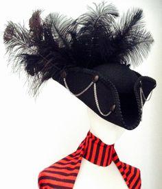 Gothic pirate tricorn hat