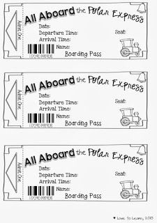 "Polar Express tickets (wrote in ""mini van"" between 'the' and 'polar' and put them on the kids beds with a candycane; then took them to look at christmas lights on houses we'd mapped)"