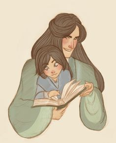 Fingolfin and little Turgon (awwww!)