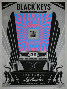 The Black Keys Concert Poster by Shepard Fairey (Onsale Info)