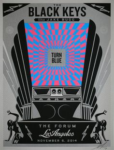 The Black Keys Concert Poster by Shepard Fairey (Onsale Info)