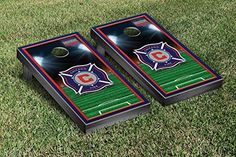 Chicago Fire MLS Soccer Cornhole Game Set Stadium Version *** Check this awesome product by going to the link at the image.