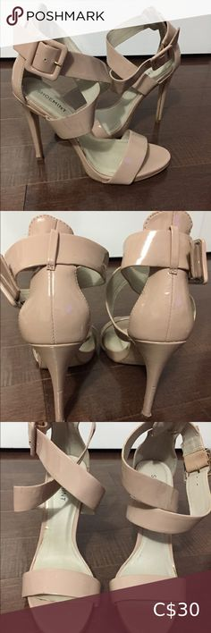 Heel height is 4 inches. Worn on vacation. Some scuffs but in good condition. Nude Heels, Shoes Heels, Plus Fashion, Fashion Tips, Fashion Design, Fashion Trends, Closets, Happy Shopping, Vacation