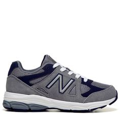 New Balance Kids' KJ888 Medium/Wide/X-Wide Running Shoe Preschool Shoes (Grey/Navy Leather) - 11.0 M