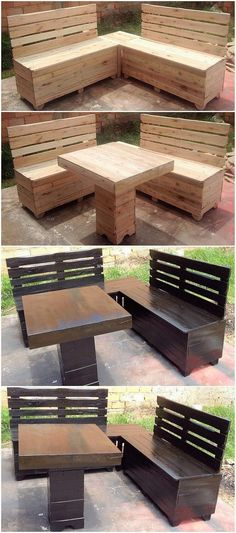 Here we have the incredible idea of the pallet outdoor benches and table setting! This creation art work designing is giving you an idea as where you can make your guests being settled in one place. From the far away distance, it looks so much attractive. Check out image!