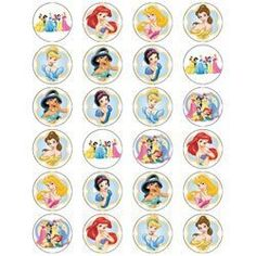 Disney Princess Edible Wafer Fairy/Cup Cake Toppers - 24 Sheet - These toppers measure approx 1.5″ These are printed on rice paper/wafer paper and are supplied in strips ready for you to cut out and use. There is no special skill to cutting them all you need is a dry pair of scissors. To get the best results place the topper onto icing or melted... - http://irishcakesupplies.com/wp-content/uploads/2013/12/41U0cdQxK-2BL.jpg - #Cake, #Disney, #EDIBLE, #FairyCup, #Princess