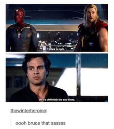 Bruce was so sassy in AoU