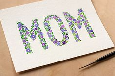 Handmade birthday cards are always more beautiful than store-bought cards. Here you'll find 25 examples of beautiful and clever DIY birthday cards. Mothers Day Decor, Diy Mothers Day Gifts, Happy Mothers Day, Mothers Day Puns, Mom Cards, Kids Cards, Cards Diy, Diy Cards For Mom, Easy Cards
