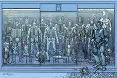 The Cybermen in all their many forms.