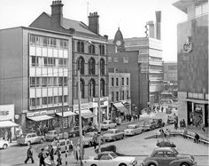 Castle Street looking towards Castle Market, Brightside and Carbrook (Sheffield) Co-operative Society, Castle House, right, shops on left include, No 5, Kennings ltd., Motor Car Accessories, No 7, H. Turner and Son Ltd., Newsagents, No 11, Su Old Pictures, Old Photos, Street Look, Street View, Nostalgic Images, Sheffield England, South Yorkshire, Castle House, Pinterest Marketing