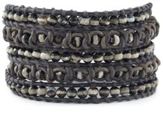 Chan Luu Black and White Wrap Bracelet with Semi Precious Stones $180.00 thestylecure.com