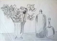 Draw what you see #drawing #flowers #objects #sketch #diy