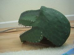 T-rex Costume Head | Finished head. Acrylic paint (avocado g… | Flickr