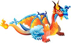 Ice and Fire Dragon Dragon City, Fire Dragon, Dragon Games, Draco, Swords, Amazing Art, Video Games, Pokemon, Cute Animals