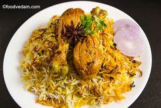 Hyderabadi Chicken Biryani-chicken dum biryani How To Cook Rice, How To Cook Chicken, Chicken Dum Biryani Recipe, Masala Spice, Famous Recipe, Fresh Mint Leaves, Chicken Marinades, Fried Onions, Other Recipes