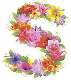 English Alphabet Letters, Alphabet Letters Design, Hand Lettering Alphabet, Flower Alphabet, Flower Letters, Cool Lettering, Alphabet And Numbers, Letter Art, Flower Frame