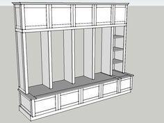 Building Plans for Mud Room Lockers | Valerie Custom Mudroom Cabinetry & Lockers | Custom Furniture Builder ...