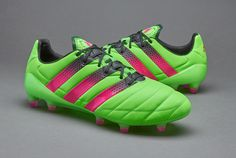 adidas ACE 16.1 Leather FG/AG - Solar Green/Shock Pink/Core Black