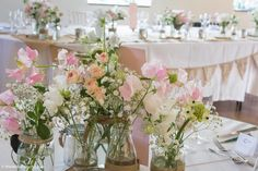 Pastel Colors, Colours, Rehearsal Dinner Decorations, Stone Barns, Table Centers, Garden Table, Wedding Designs, Summer Wedding, Wedding Flowers
