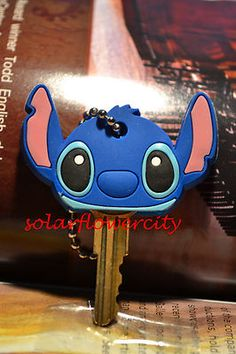Cute Disney Lilo & Stitch Key Cover Cap on eBay!