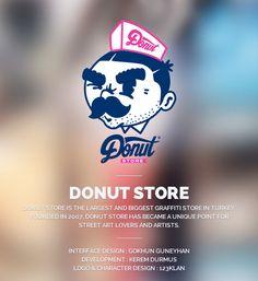 Donut Store by Gokhun Guneyhan, via Behance