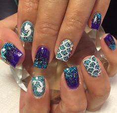 White | Mermaid Decal | Half Pack Nail Decal | Summer Nails | Mermaid Nails | Mermaid Nail Art | Nails | Nail Art | Nail Decals