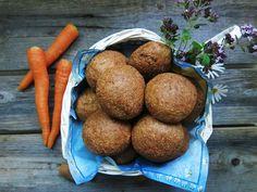 Antipastaa: Porkkanasämpylät (gluteeniton, viljaton, maidoton,...