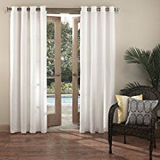 Outdoor curtains and outdoor drapes make nice porch enclosures.  It's an easy and relatively inexpensive way to create privacy, ambiance, and add a lot of  curb appeal to your porch. Porch curtains block wind, rain, and sun to allow for more comfortable outdoor time.