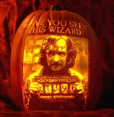 10 amazing halloween pumpkins inspired by the Harry Potter Series.