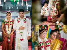 Traditional South Indian bride and groom