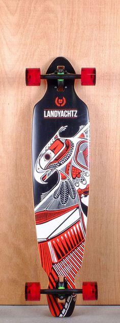 """Landyachtz 40"""" Battle Axe Longboard Complete Bottom"""
