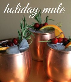 Easy Holiday Mule Recipe