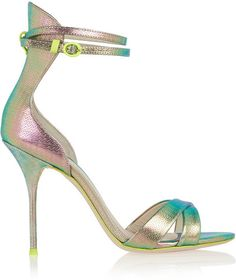 J.Crew + Sophia Webster Nicole textured-leather sandals #shoes