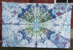 60 x 94 Size  Tie Dye Mandala Tapestry 270 by TyeDyeBills on Etsy, $60.00