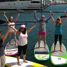 #RoxyOutdoorFitness #Me SUP yoga training