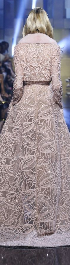 Elie Saab Fall 2015 - Perfect for a classy winter bridal look!