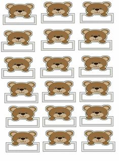 Teddy Bear Names, Teddy Bear Day, Bear Theme Preschool, Robot Theme, Welcome Baby Boys, Cute Notes, Name Tags, Baby Boy Shower, Party