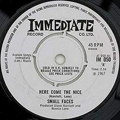 "Here Come The Nice - Small Faces 7"" 45: Amazon.co.uk: Music Uk Music, Small Faces, Here Comes, British, Culture, Songs, Amazon, Nice, Amazons"