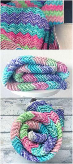 11 Beste Afbeeldingen Van Chevron Deken Bedspreads Crochet