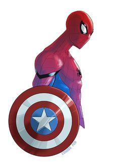 Spider-Man Civil War by pungang on DeviantArt