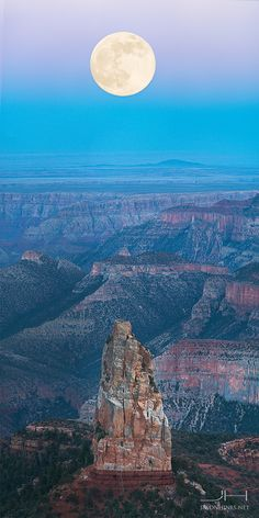 Supermoon at Point Imperial, Grand Canyon National Park, Arizona